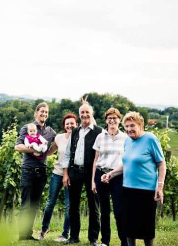 Famile Muster in den Weingärten
