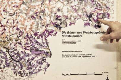 Landkarte des Weinbaugebietes Südsteiermark